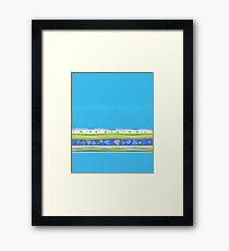 Simple Blue Design Framed Print