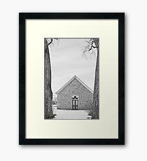 Hygiene Church of the Brethren 1880 in BW Framed Print