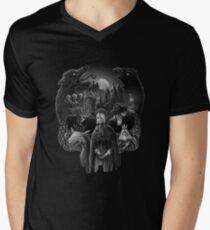 Bloodborne Skull Men's V-Neck T-Shirt