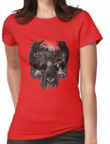 Bloodborne Skull Womens Fitted T-Shirt