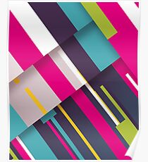 Stripes and more Stripes Poster