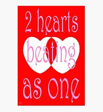 TWO HEARTS Photographic Print