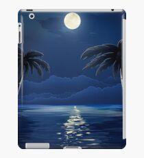 Tropical Moon over Water iPad Case/Skin