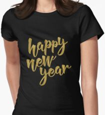 Happy New Year Women's Fitted T-Shirt