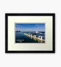 Merewether Baths - Beachcomber Series Framed Print