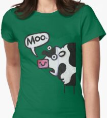 Cow top Women's Fitted T-Shirt