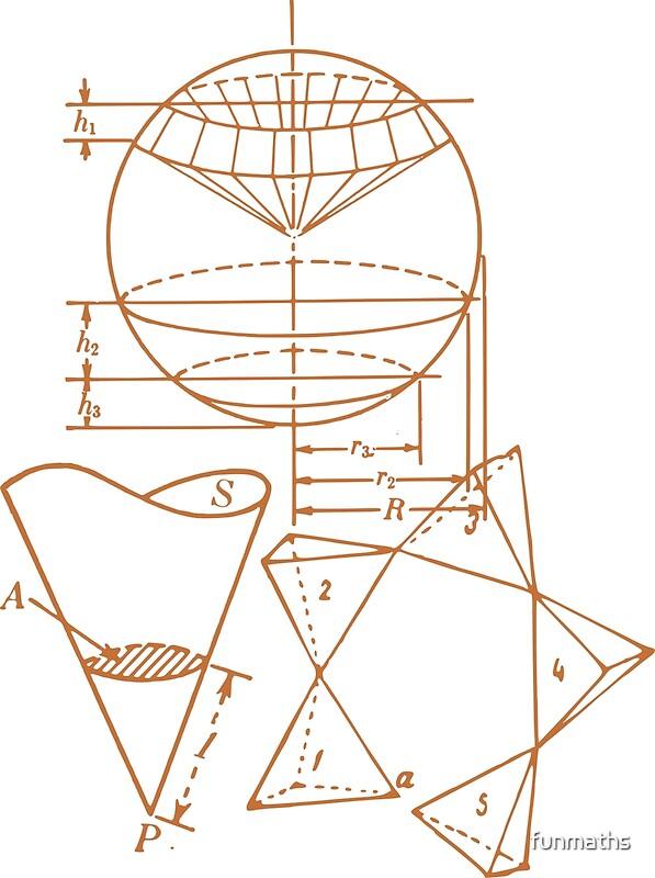 Vintage Math Diagrams - sepia\