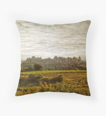 Historic fortified city of carcassonne (France) Throw Pillow
