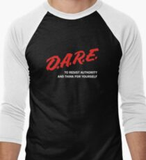 DARE TO RESIST AUTHORITY Men's Baseball ¾ T-Shirt