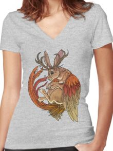 wolpertinger Women's Fitted V-Neck T-Shirt