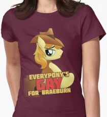 Gay for Braeburn Shirt (My Little Pony: Friendship is Magic) Women's Fitted T-Shirt