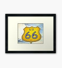 Route 66 Pop Art Framed Print