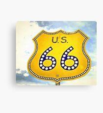 Route 66 Pop Art Canvas Print