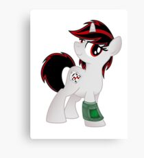 Blackjack is Best Pony T-shirt (from the Project Horizons fanfic) Canvas Print