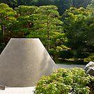 Kyoto: Silver pavilion. Mt Fuji. by johnrf