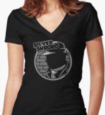 SILVER SHROUD Women's Fitted V-Neck T-Shirt