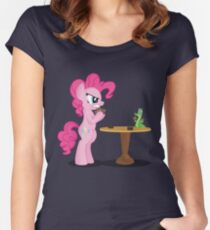 Pinkie Pie and Gummy Play Magic Shirt (My Little Pony: Friendship is Magic) Women's Fitted Scoop T-Shirt