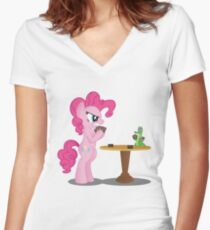Pinkie Pie and Gummy Play Magic Shirt (My Little Pony: Friendship is Magic) Women's Fitted V-Neck T-Shirt