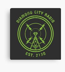 DIAMOND CITY RADIO Canvas Print