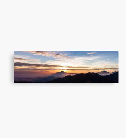 Dieng Sunrise Canvas Print