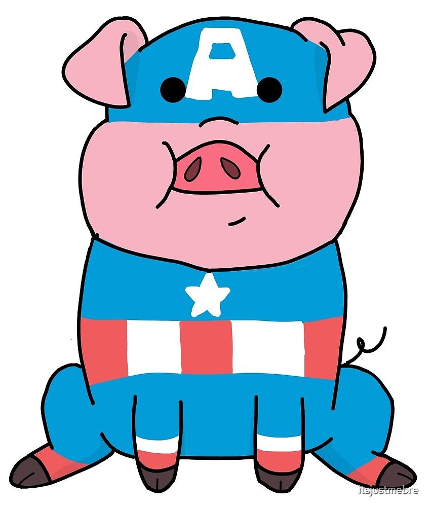 Captain Ameripig Waddles by itsjustmebre