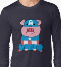 Captain Ameripig Waddles Long Sleeve T-Shirt