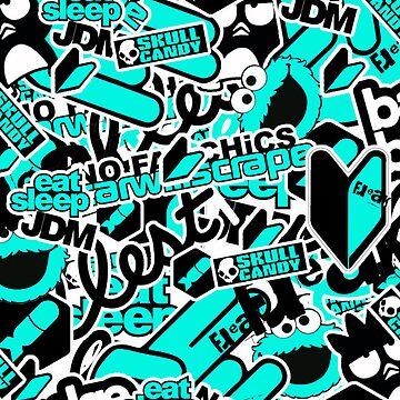sticker bomb case  by kid-keelz