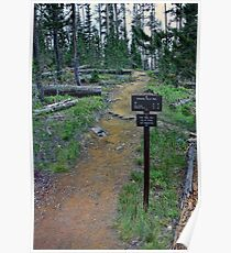 Terraced Falls Trail & Trail-sign Poster