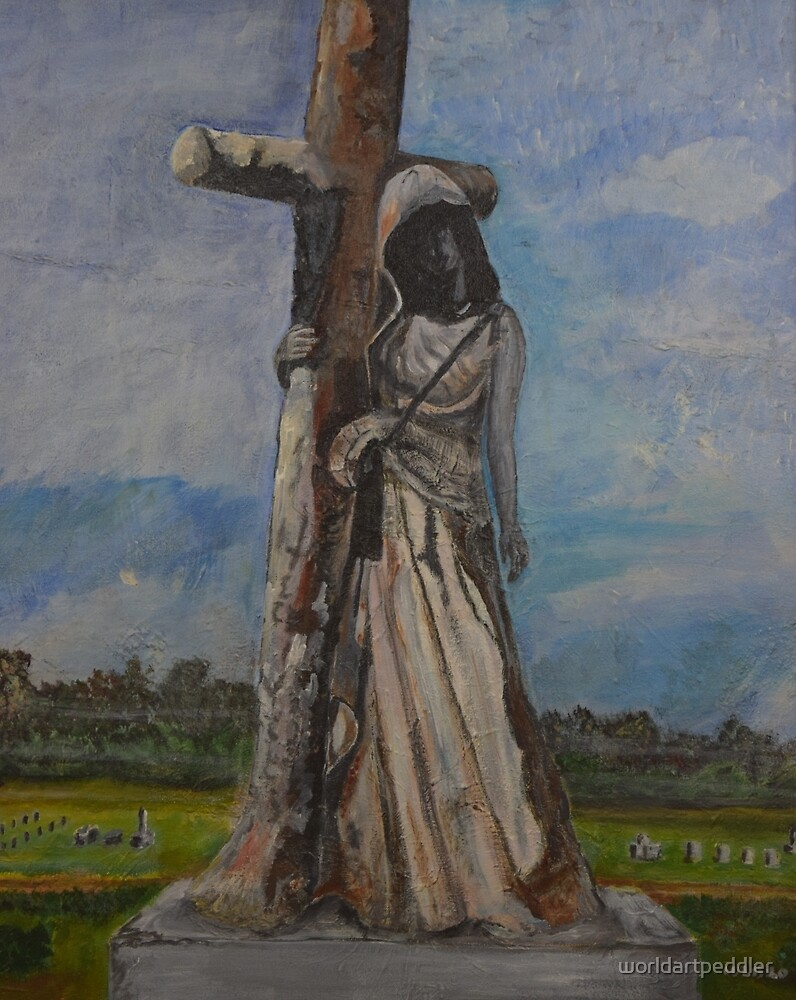 Woman at the cross by worldartpeddler
