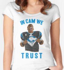 In Cam We Trust - Man of Steel 2016 Women's Fitted Scoop T-Shirt