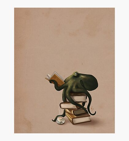 Well-Read Octopus Photographic Print