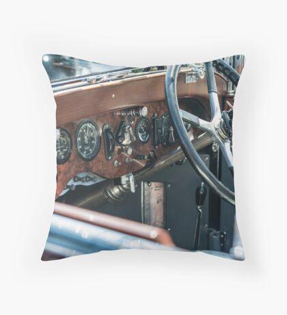 Vintage auto dash Throw Pillow