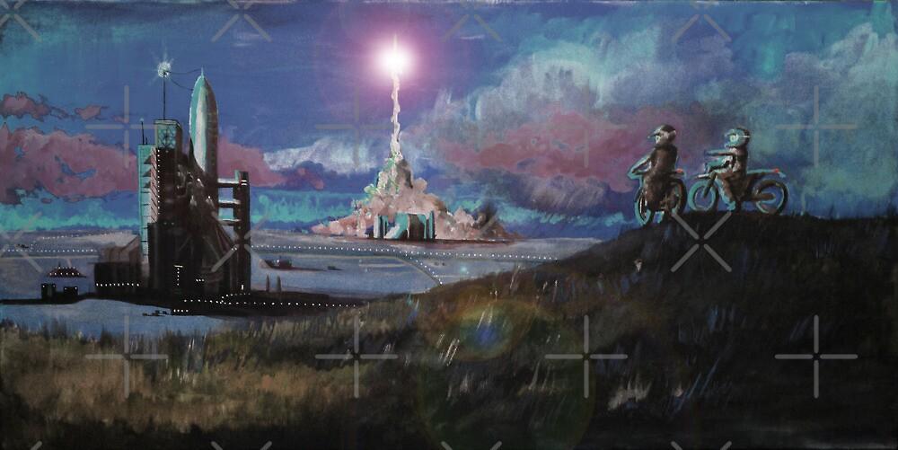 Rocket Base Night by C.J. Jackson