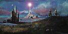 Rocket Base Night by Chris Jackson