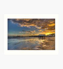 Sandown Pier Sunset Art Print