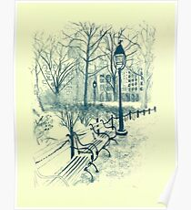 Washington Park in Winter Poster
