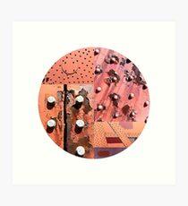 Rusty Circle (White Background) Art Print
