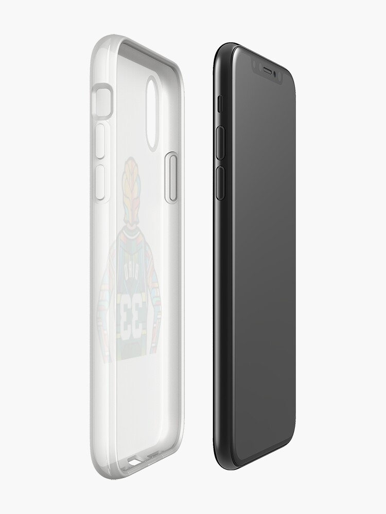 Vista alternativa de Vinilos y fundas para iPhone Larry Bird - Stained Glass