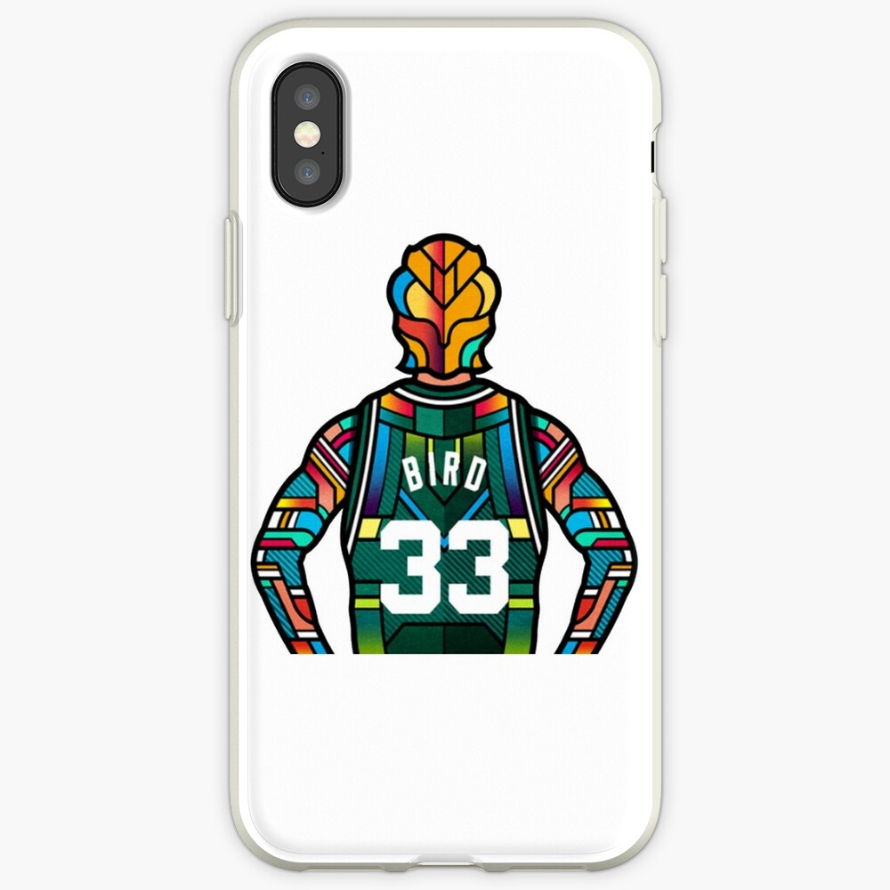 Larry Bird - Stained Glass Vinilos y fundas para iPhone