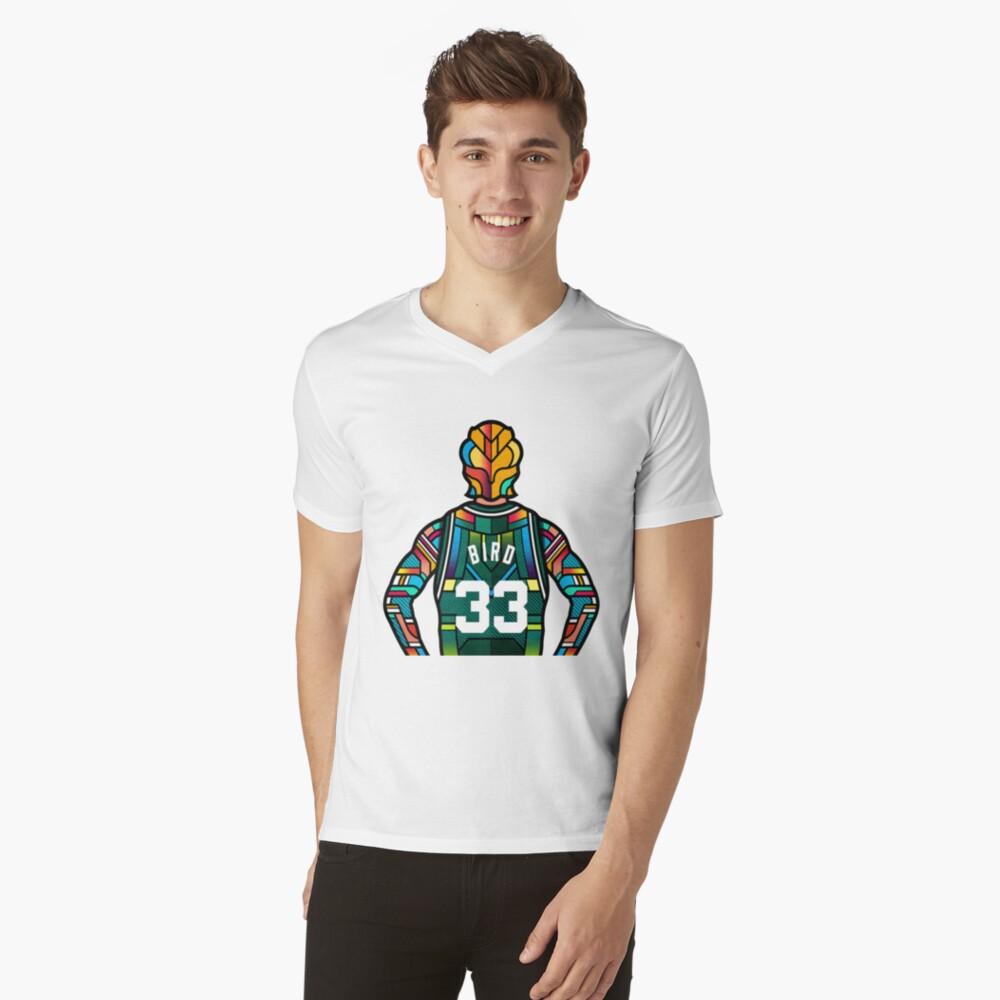 Larry Bird - Stained Glass Camiseta de cuello en V