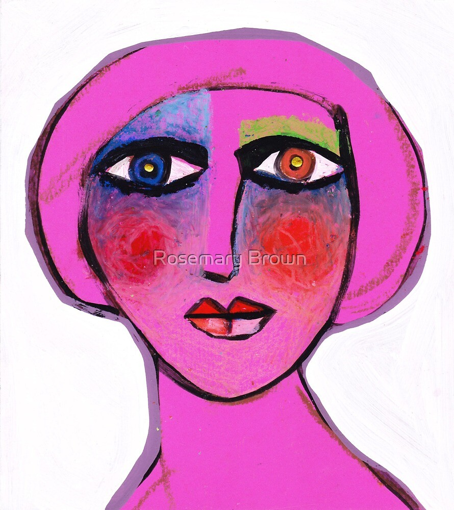 Painted face Diva  by Rosemary Brown