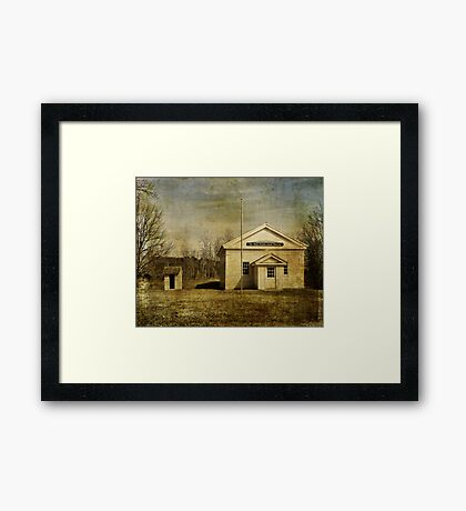 Greenfield Schoolhouse Framed Print