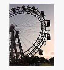 Praterstern Park, Riesenrad, Ferris Wheel Photographic Print