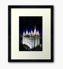Salt Lake Temple Starry Night 20x30 Framed Print