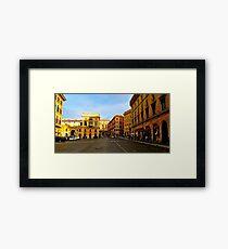 Rome at a Crosswalk Framed Print