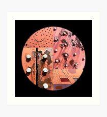 Rusty Circle (Black Background) Art Print