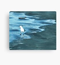 Learning to Ice Skate Canvas Print