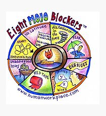 Eight Mojo Blockers Poster Photographic Print