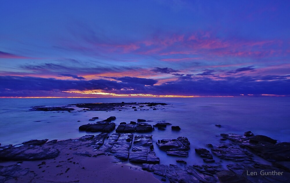 Soldiers Beach Sunrise by Len  Gunther
