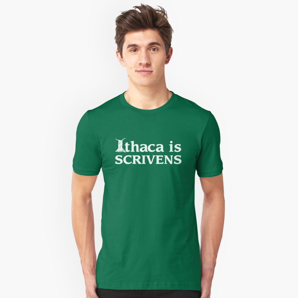 Ithaca Ivy League (WHITE TEXT) Unisex T-Shirt Front